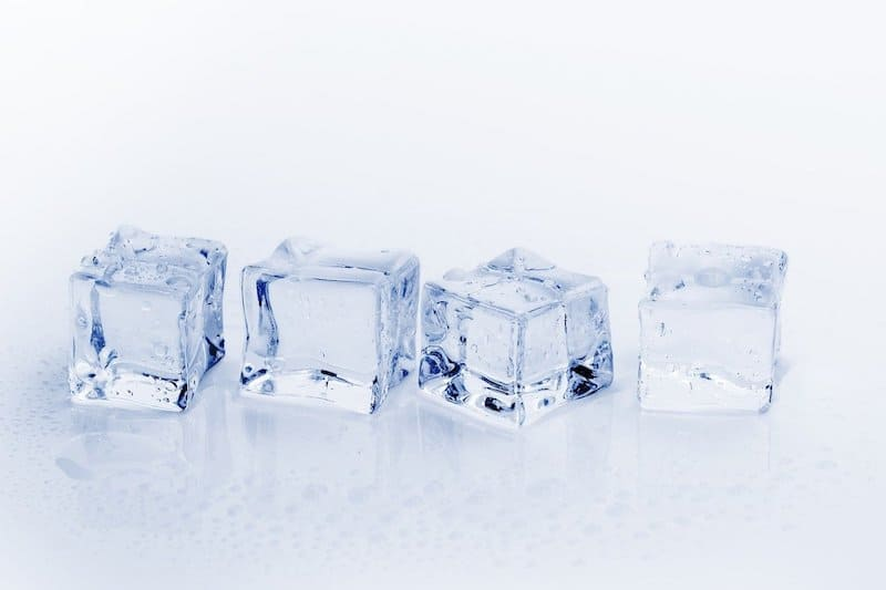 four ice cubes in a row